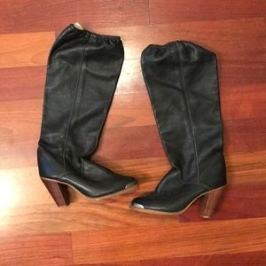 Awesome Anthropologie/ Zodiac Black Leather Boots